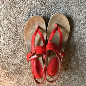 Style & co wedge sandals salmon size 8